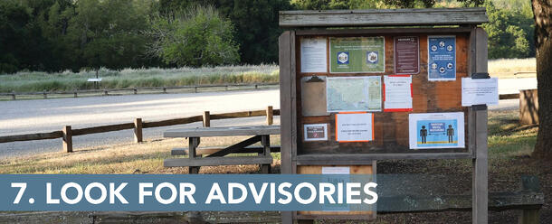 7. Look for advisories