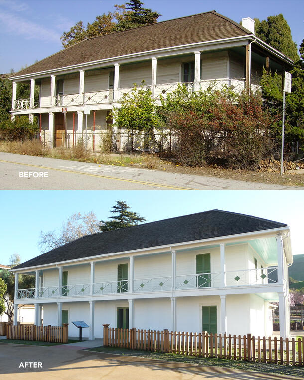 Alviso Adobe before and after