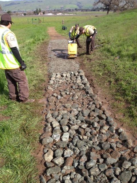 CVOSP Trail Rocking - open space technicians
