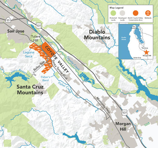 North Coyote Valley Map