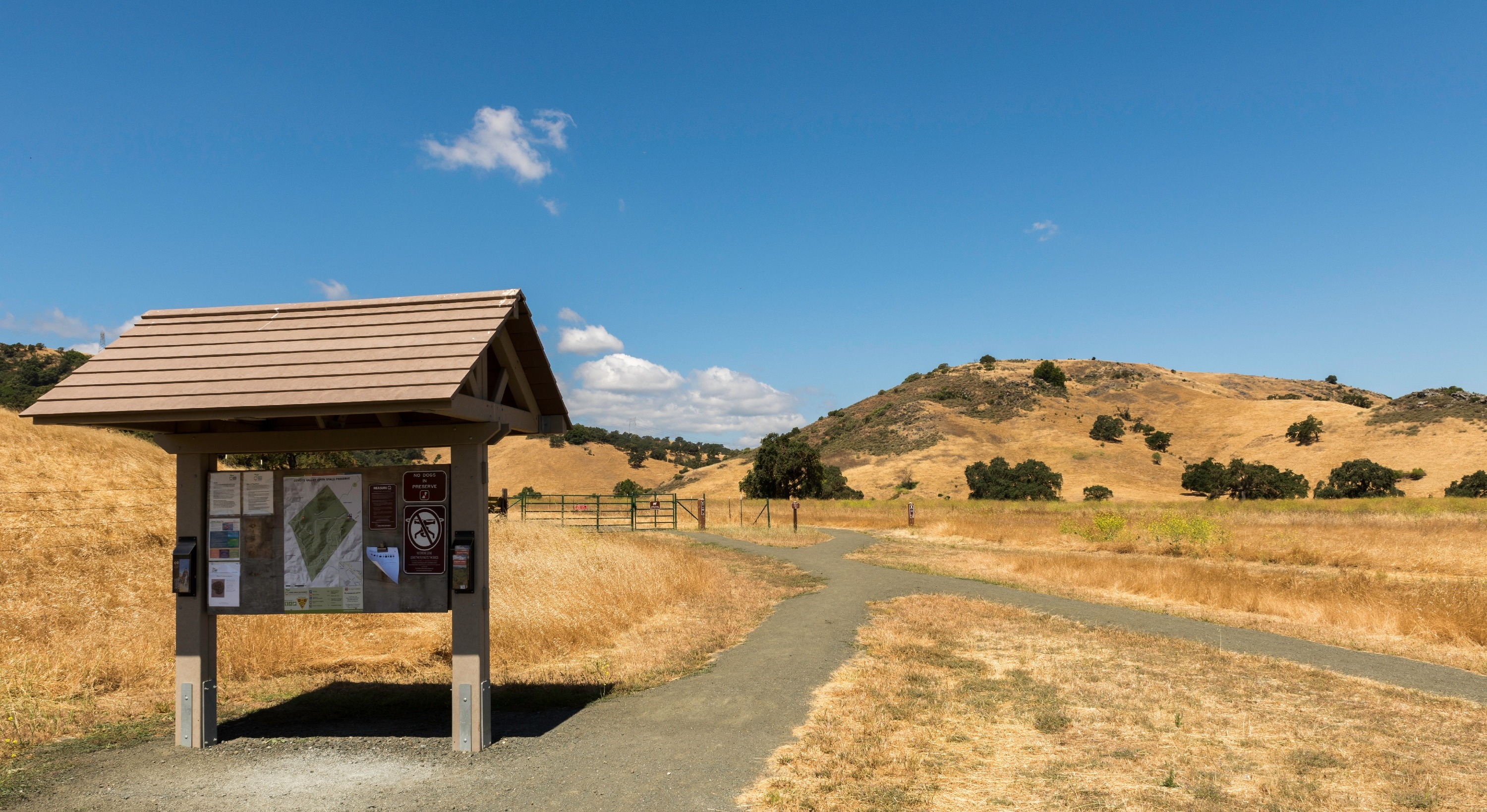 Kiosk at Coyote Valley Open Space Preserve