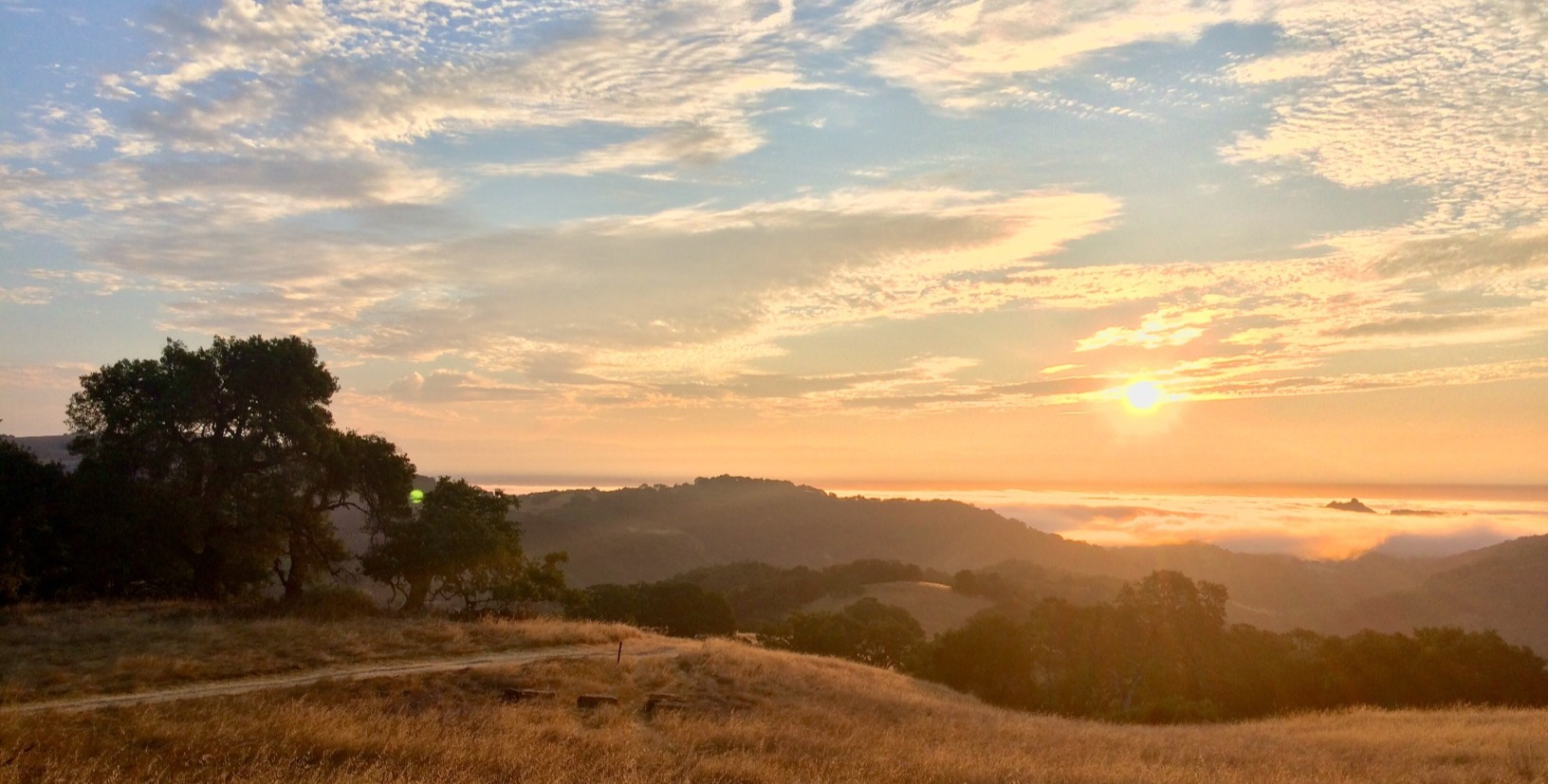 Sunrise over Coyote Valley