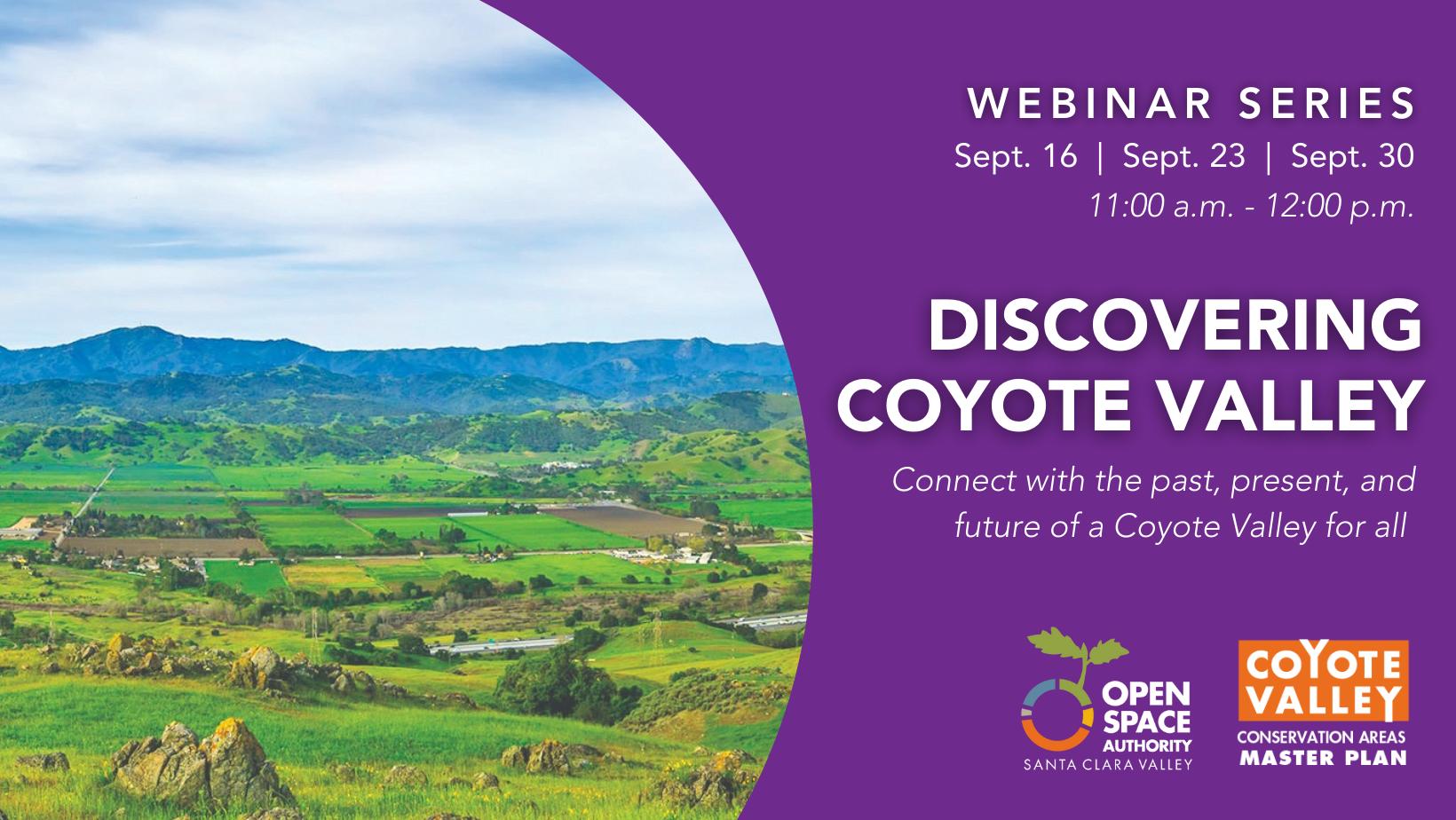 Discover Coyote Valley Webinar Series